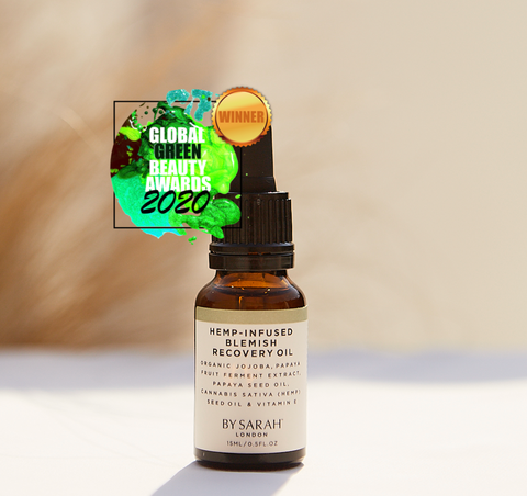 By Sarah London Hemp-Infused Blemish Recovery Oil