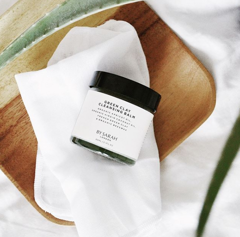 By Sarah London Green Clay Cleansing Balm and Muslin Cloth