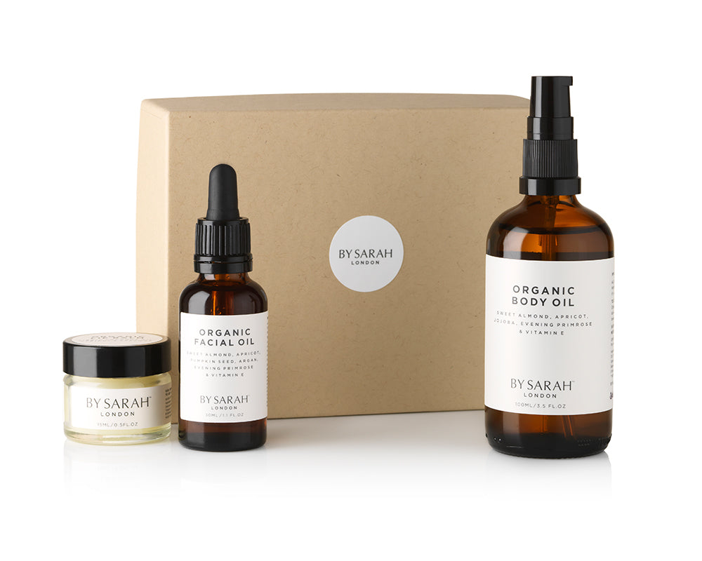 BY SARAH LONDON - Organic Capsule Collection - Organic Facial Oil, Organic Body Oil, Organic Lip Balm