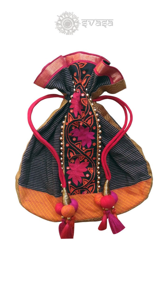 Potli Bag With Kalamkari Design - SvasaDesign