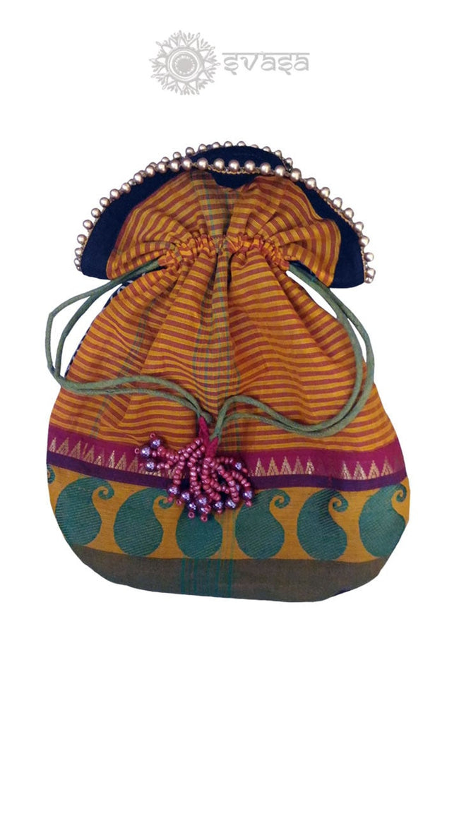 Potli Bag - Chettinad Handwoven Bag - SvasaDesign