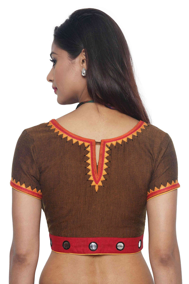 Brown Cotton Blouse - SvasaDesign