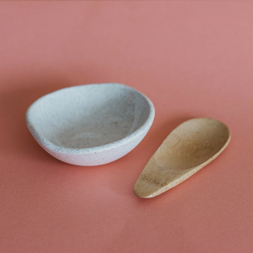 Ceramic facial clay mixing bowl - Sand