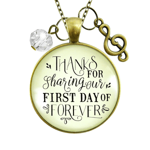 Gutsy Goodness Wedding Singer Gift Necklace Thanks for Sharing Day Musician Soloist