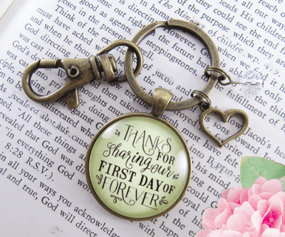 Wedding Coordinator Gift Keychain Thanks For Sharing First Day Rustic Jewelry Planner Appreciation - Gutsy Goodness