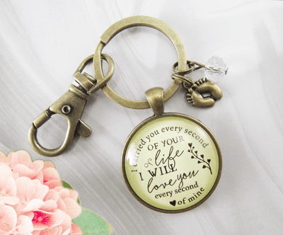 Miscarriage Keychain I Carried You Every Second Of Your Life Baby Loss Remembrance Keepsake - Gutsy Goodness Handmade Jewelry