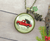 Gutsy Goodness Red Truck Christmas Theme Necklace Vintage Holiday Jewelry Gift - Gutsy Goodness