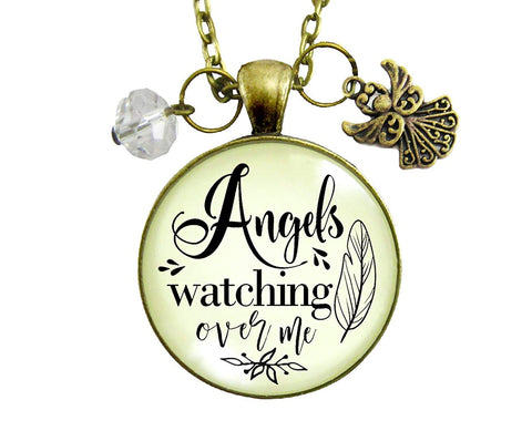 "Gutsy Goodness 36"" Angels Watching Over Me Neccklace Memorial Heaven Inspired Jewelry"