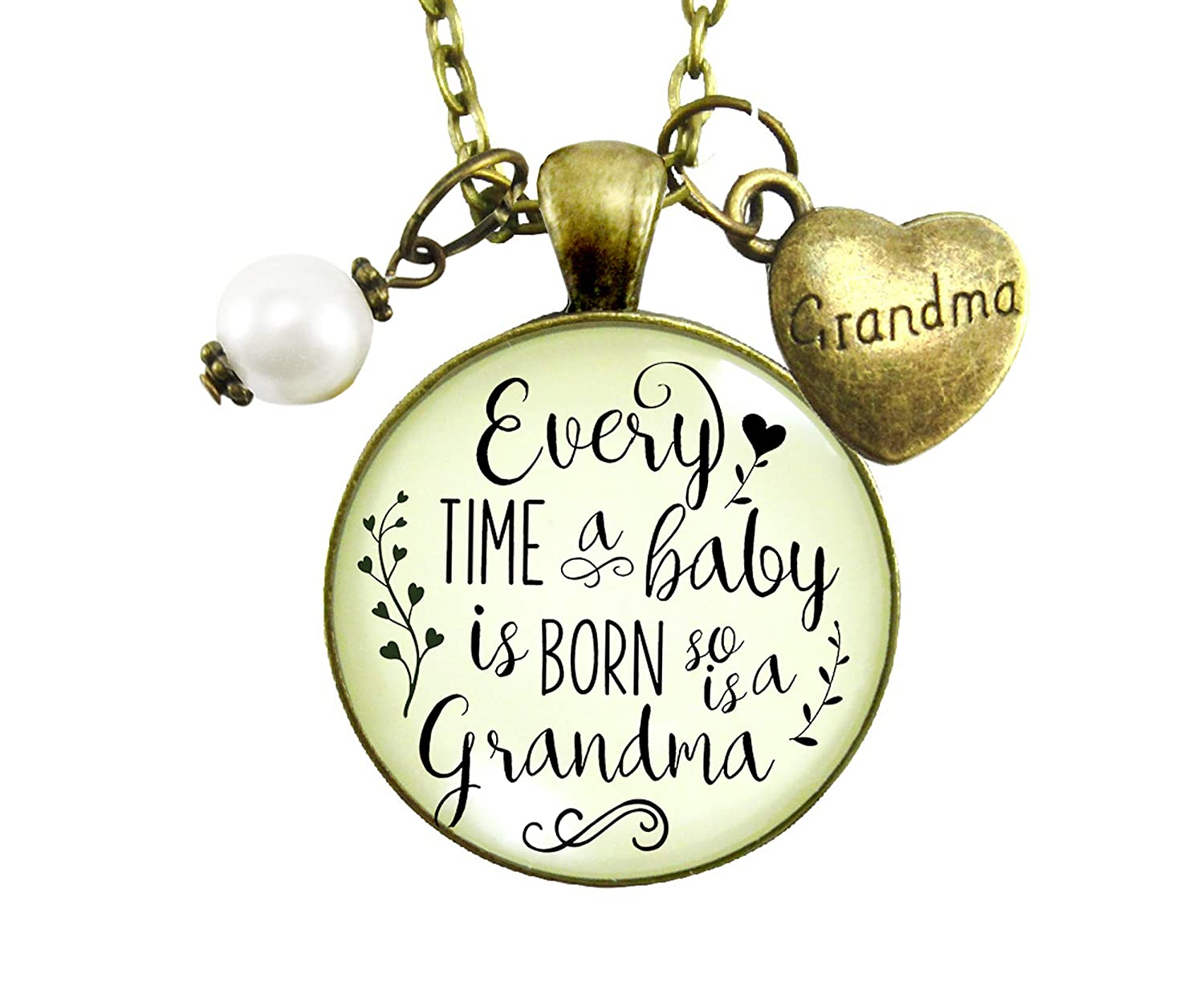 "Gutsy Goodness 24"" New Grandma Necklace Every Time Baby Born Jewelry Gift from Daughter"