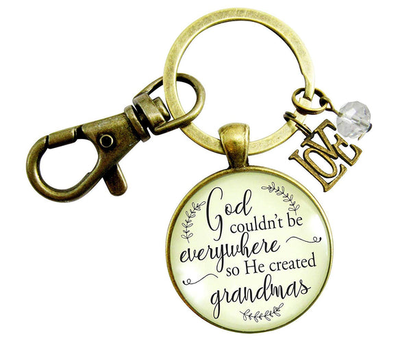 Blessed Grandma Keychain God Couldn't Be Everywhere Christian Family Jewelry Gift