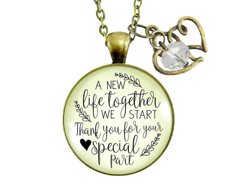 "36"" Wedding Coordinator Gift Necklace A New Life We Start Rustic Jewelry Thank You Planner Appreciation Note Card"
