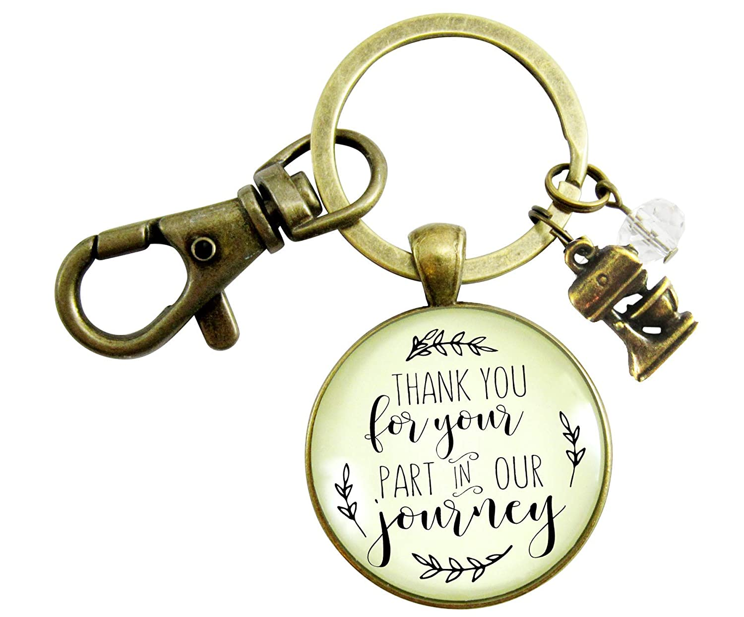 Wedding Cake Maker Gift Keychain Thank You For Your Part Rustic Pendant Baker Mixer Charm Appreciation Note Card - Gutsy Goodness