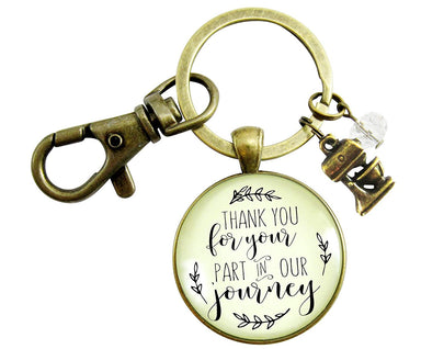 Wedding Cake Maker Gift Keychain Thank You For Your Part Rustic Pendant Baker Mixer Charm Appreciation Note Card