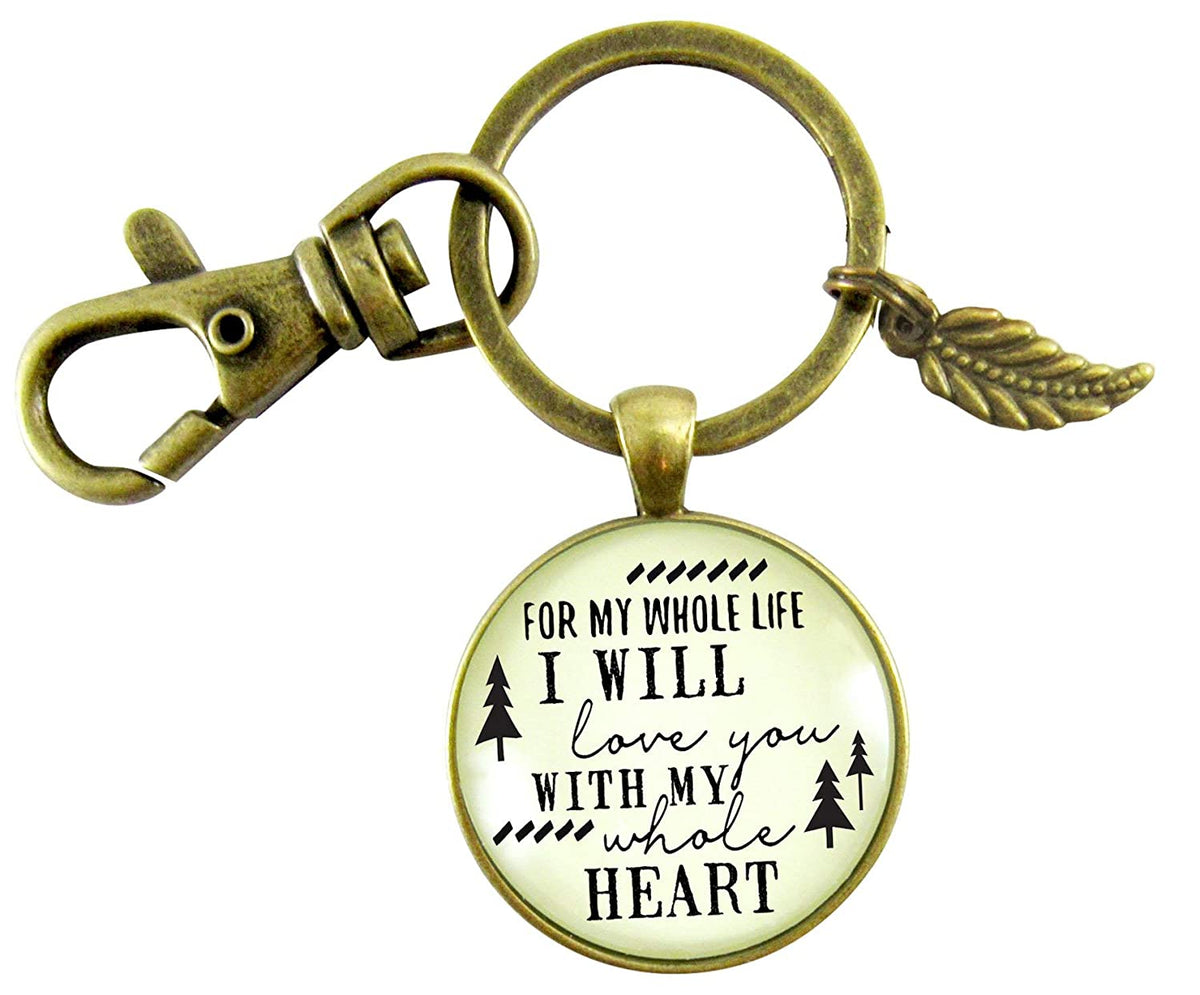 My Future Husband Keychain Gift For Men I Will Love You Life Promise Bride To Groom Rustic Wedding Love Key Ring