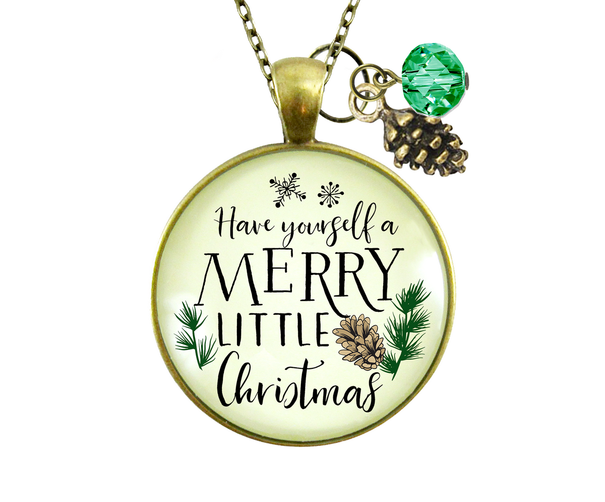 Gutsy Goodness Holiday Necklace Have Yourself Merry Little Christmas Jewelry Gift - Gutsy Goodness