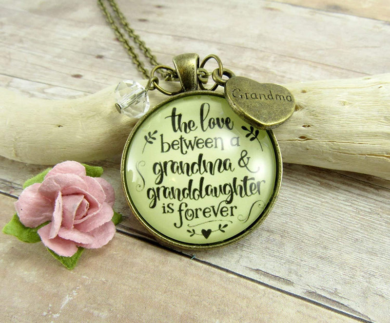 "Gutsy Goodness 24"" Grandmother Necklace Love Between Grandma Granddaughter Forever Gift"