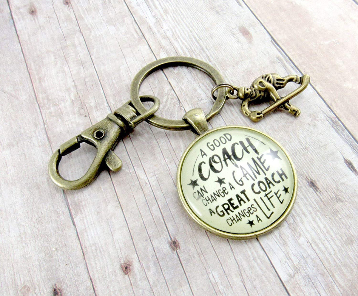 Hockey Coaching Keychain A Great Coach Changes A Life Quote Thank You Key Ring Appreciation Gifts For Men Women