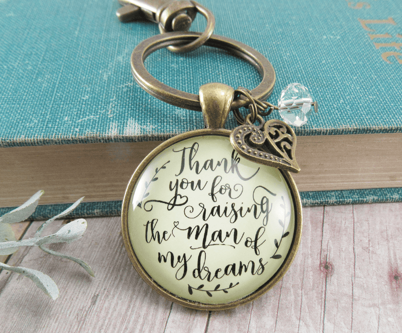 To Her Mother in Law Keychain Thank You Raising Man I Dreamed Wedding Gift - Gutsy Goodness