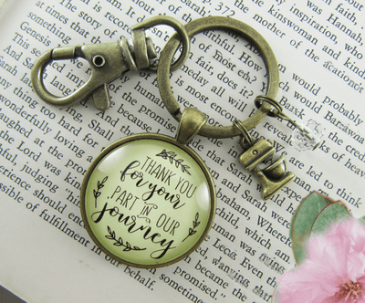 Wedding Cake Baker Gift Keychain Thank You for Your Part Mixer Charm - Gutsy Goodness