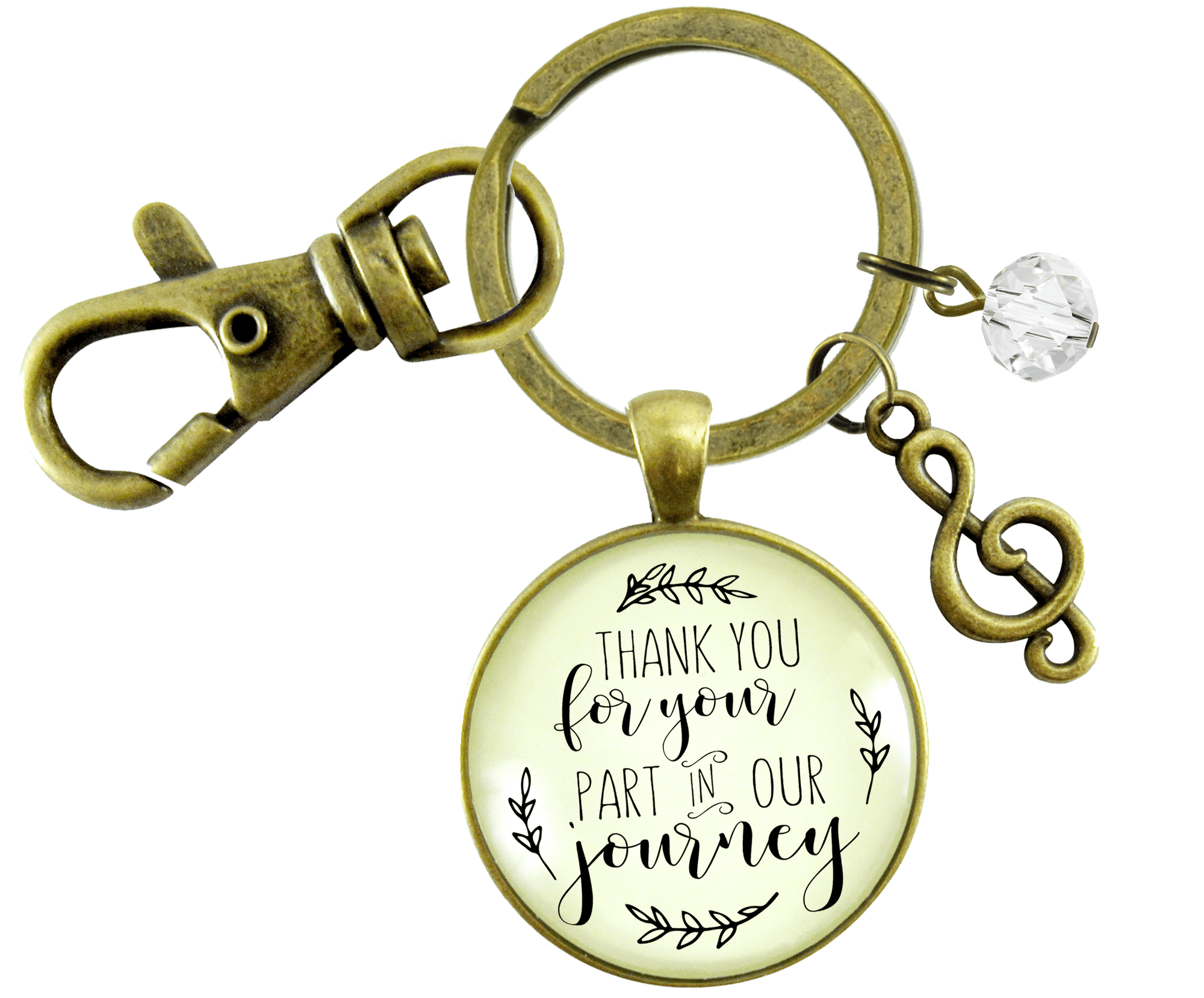 Wedding Singer Gift Keychain Thank You For Your Part Rustic For Musician Soloist G Clef - Gutsy Goodness