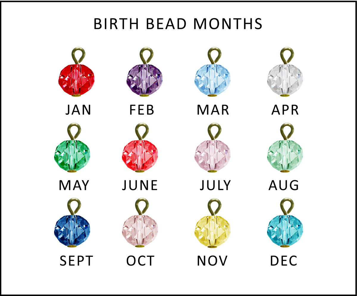 Birth Month Bead - Add 2+ - Gutsy Goodness