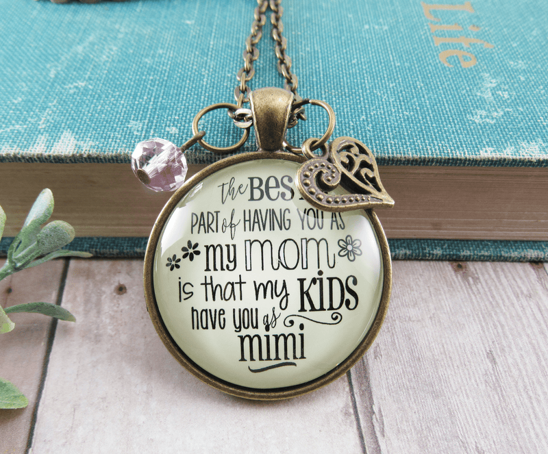 Gutsy Goodness Mimi Necklace Best Part You as Mom Kids Grandma Jewelry Gift Daughter - Gutsy Goodness