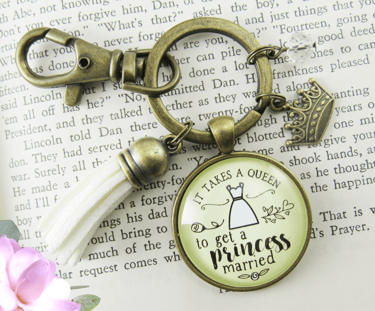 Wedding Planner Keychain Takes A Queen Bridesmaid Mother Of Bride Gift Jewelry Crown Tassel - Gutsy Goodness Handmade Jewelry