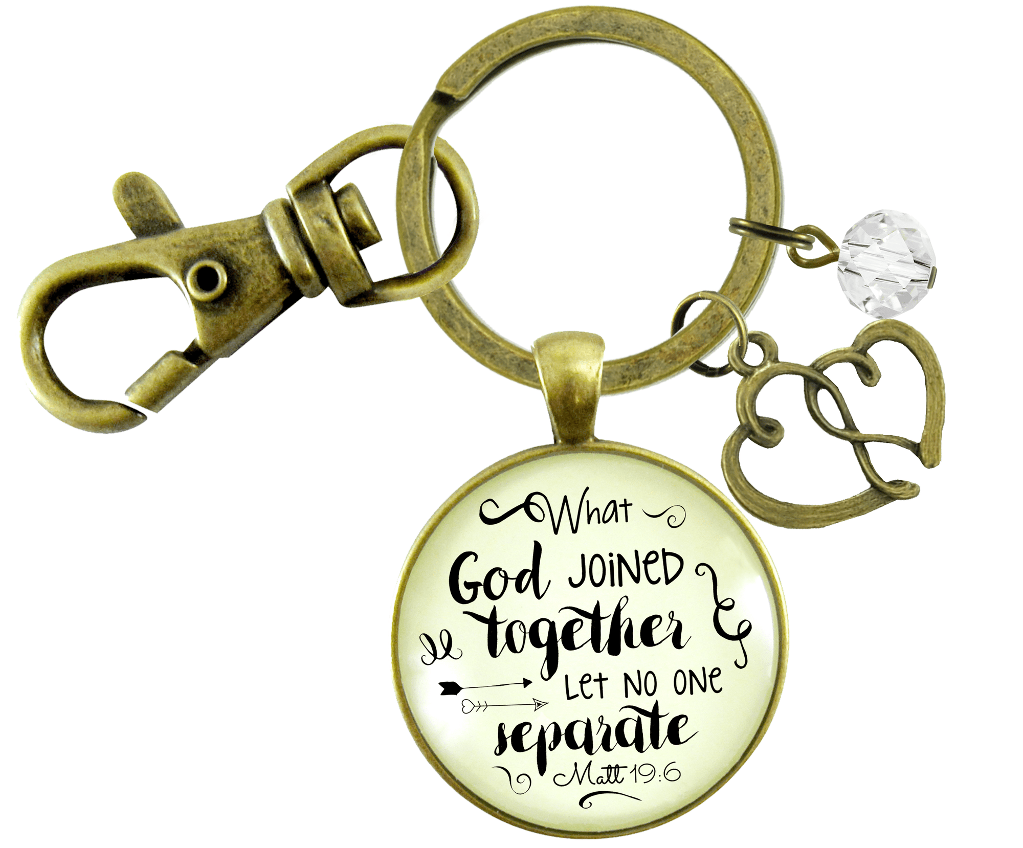 Woman of Faith Keychain Marriage Quote Bridal Shower Wedding Gift - Gutsy Goodness Handmade Jewelry