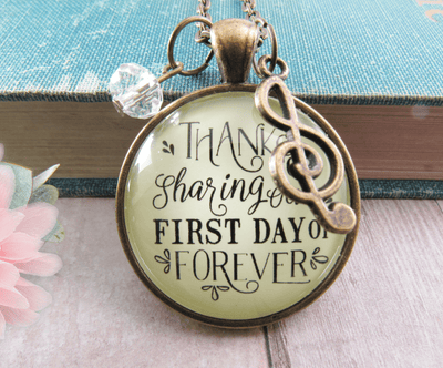 Gutsy Goodness Wedding Singer Gift Necklace Thanks for Sharing Day Musician Soloist - Gutsy Goodness Handmade Jewelry