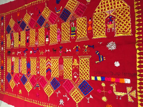 Darshan Dwār Phulkari crafted by Virsā Artisan