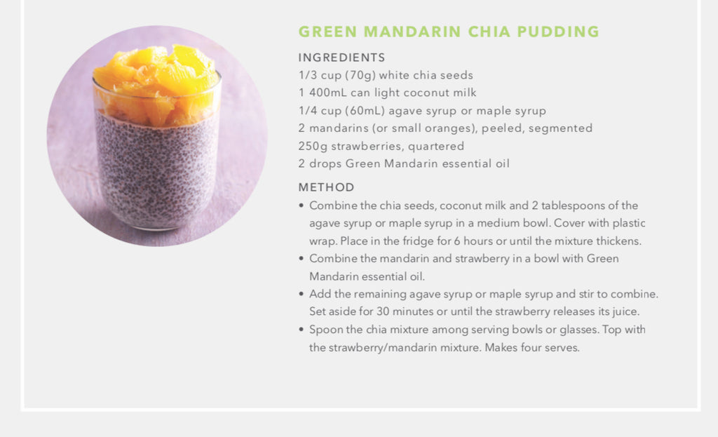 Green Mandarin Chia Pudding