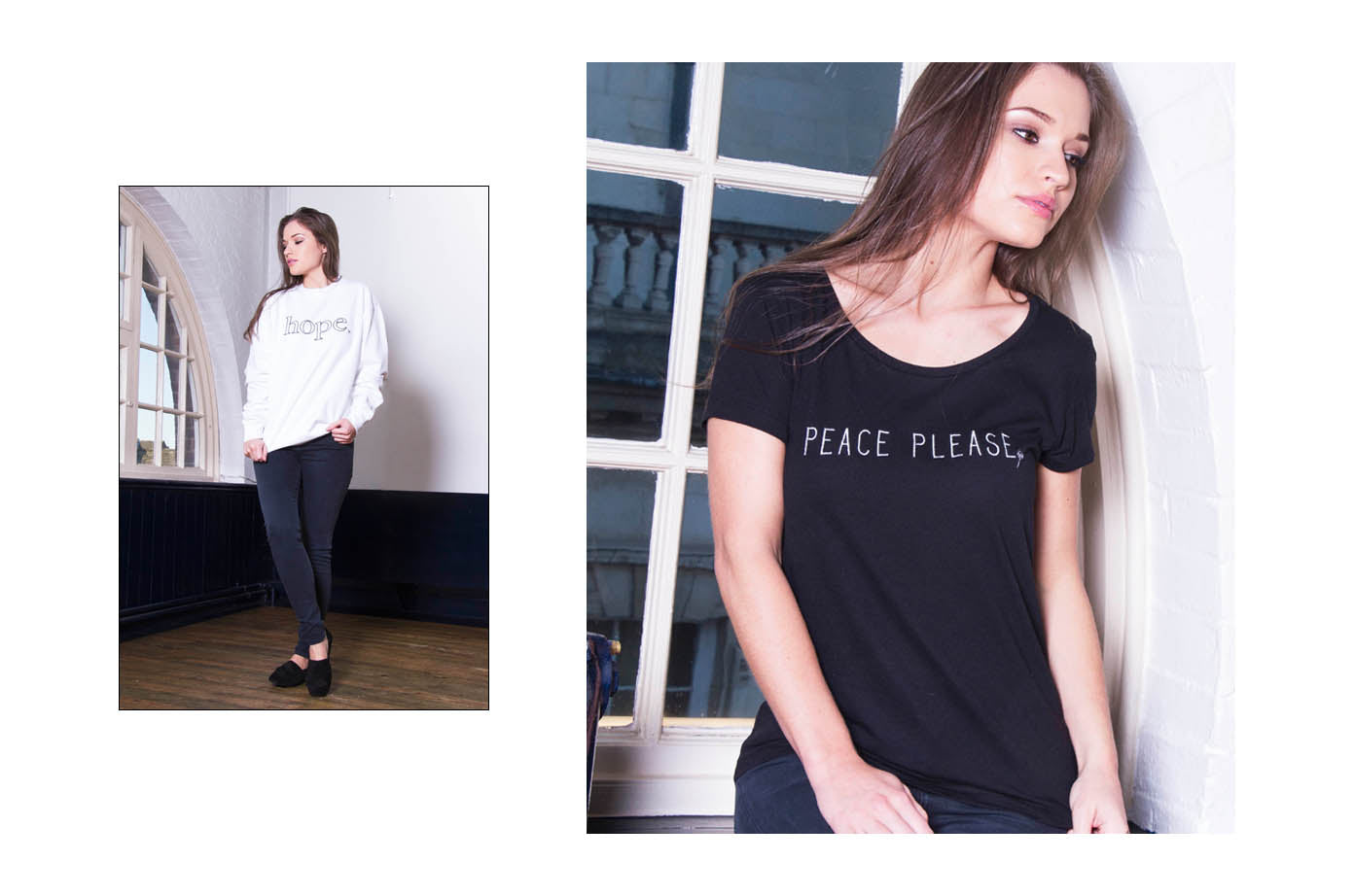 White Hope Sweat/Peace Please Tee