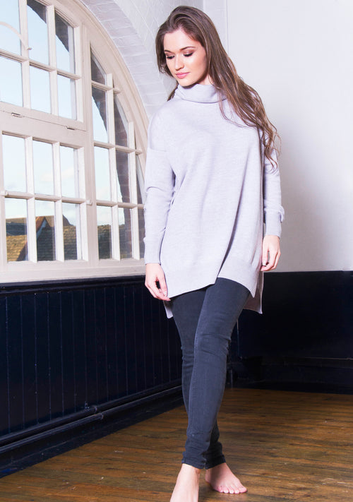 Extra Fine Merino Long Knitted Jumper