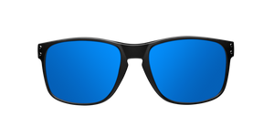 BOLD MATTE BLACK - BLUE POLARIZED