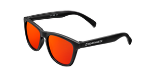 KIDS MATTE BLACK - RED POLARIZED