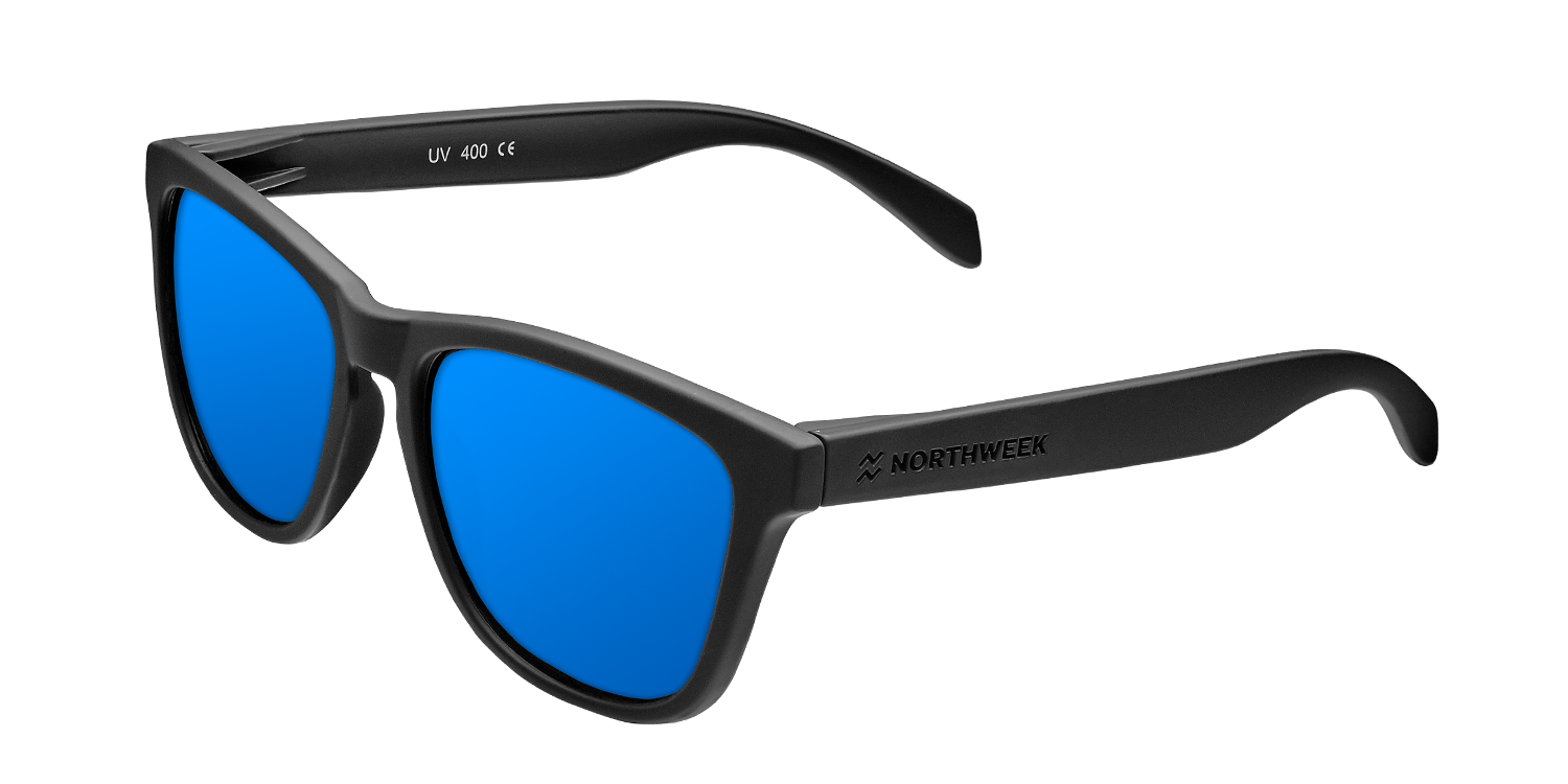 REGULAR MATTE BLACK - BLUE POLARIZED