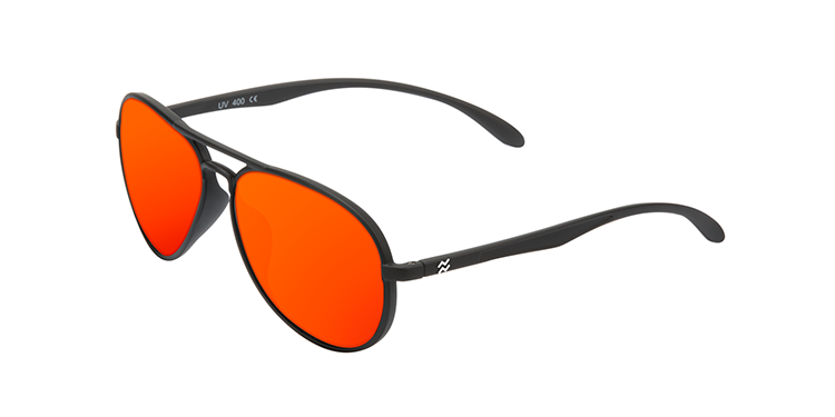 YAW MATTE BLACK - RED POLARIZED