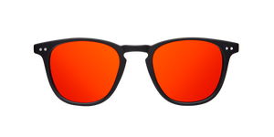 WALL MATTE BLACK - RED POLARIZED