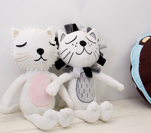 Demure Cats and Lion Plush Toy