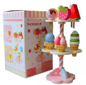 Wooden Icecream Stand Playset