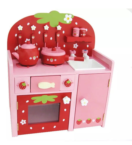 Wooden Cherry Kitchen Playset