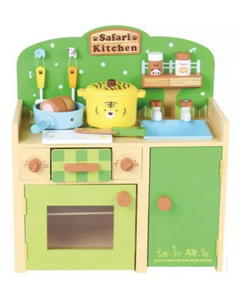 Wooden Jungle Safari Kitchen Playset