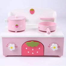 Wooden kitchen strawberry compact