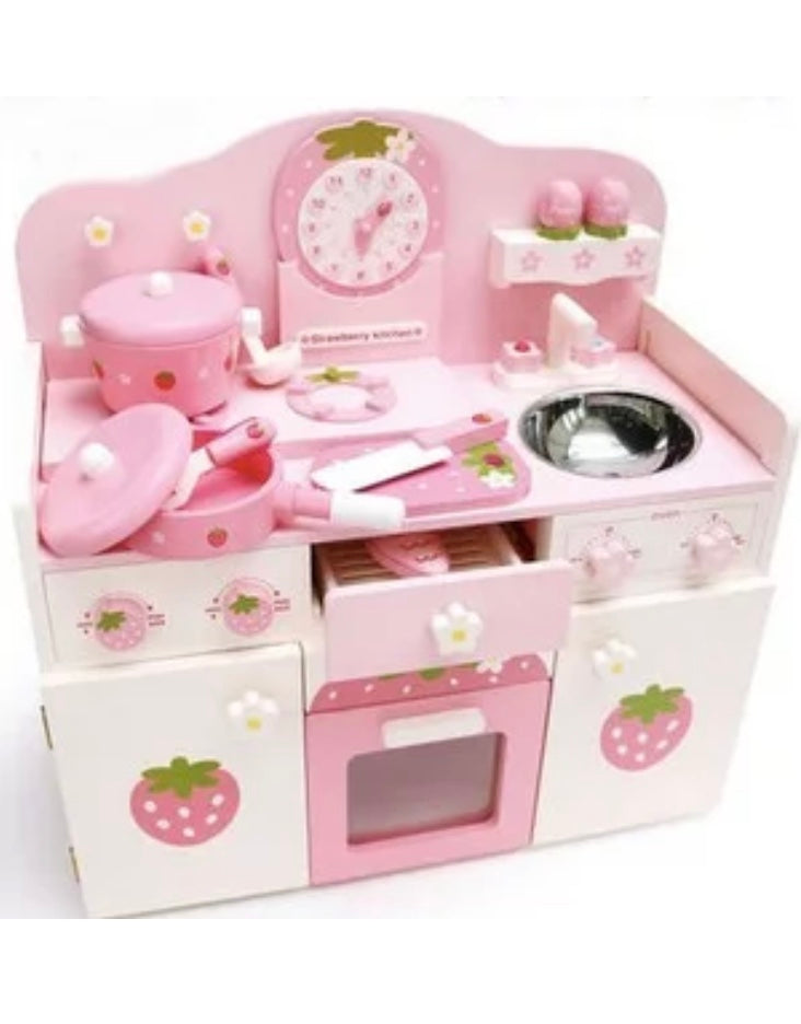 Strawberry Wooden Kitchen Play Set