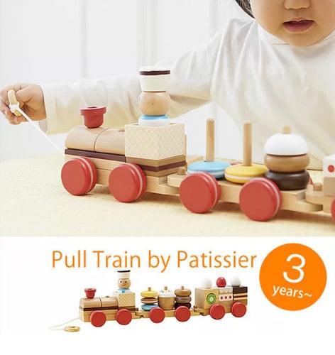 Wooden Treat Pull Train