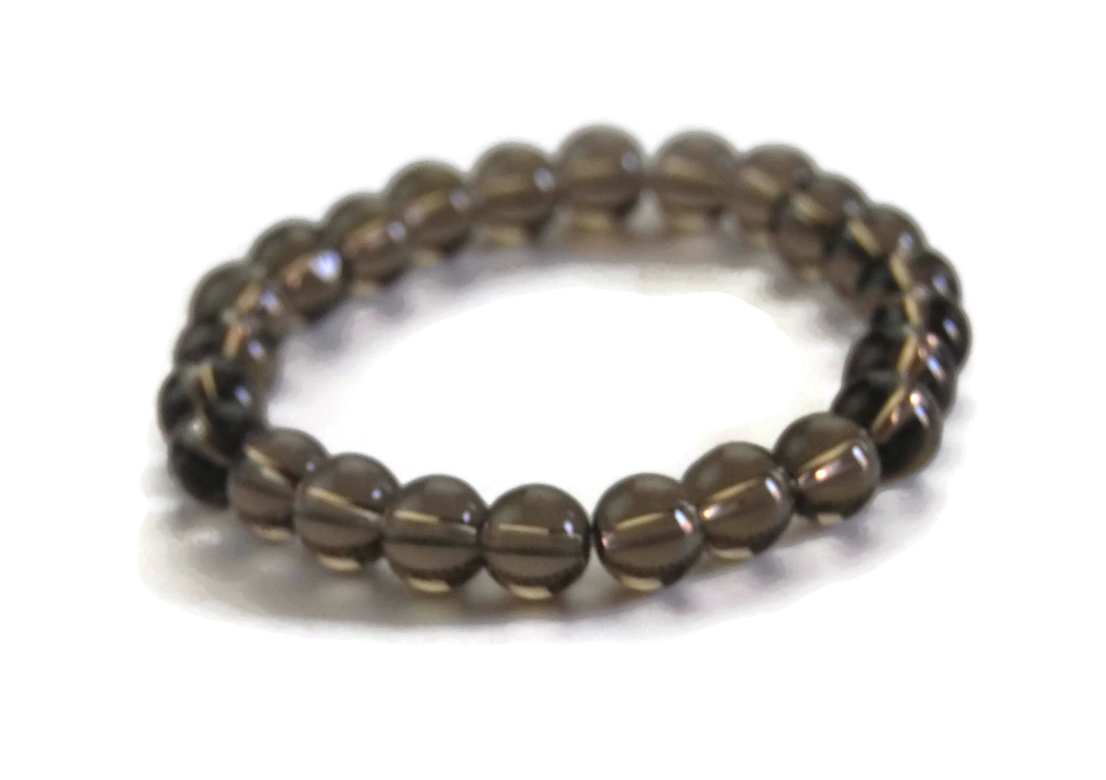 Lotus Line Black Citrine Stone Meditation Yoga Wrist Mala Stretch Bracelet, Root Base Chakra,
