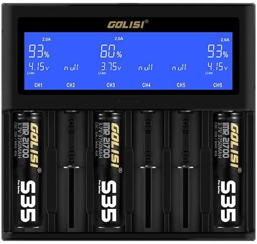 Golisi S6 2.0A Smart Charger with LCD Screen