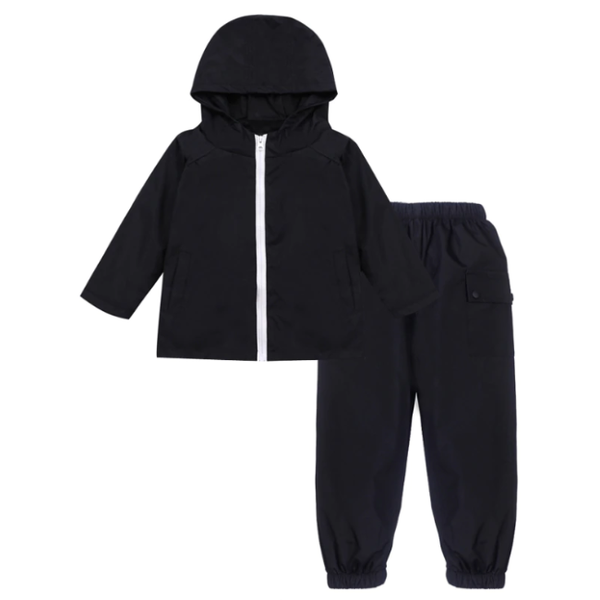 Jacket and trousers wet weather gear combo set