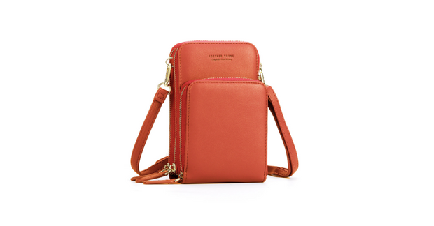 Leather Crossbody Phone Bag