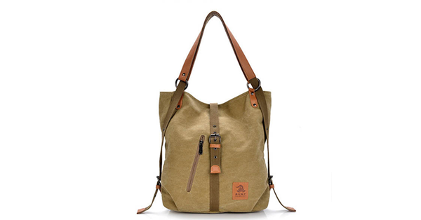 Casual Canvas Multi-functional Microfiber Leather Shoulder Bags